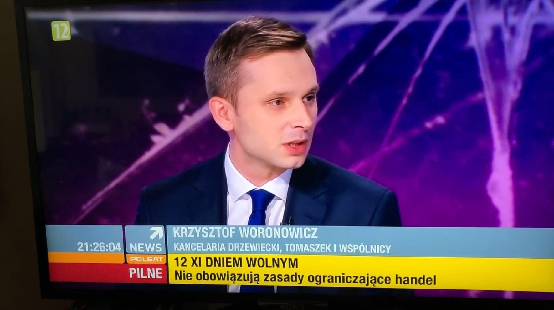 Mec. Krzysztof Woronowicz ekspertem wprogramie Polsat News